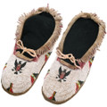 Vintage Indian Eagle Beaded Moccasins 40422