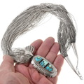 Native American Pendant on Liquid Silver Necklace 40426