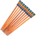 Colorful Rainbow Pattern Native American Hair Stick 40436