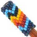 Wooden Hair Pin Accessory Navajo Made Beaded Pattern 40436