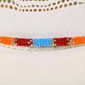 Colorful Hand Beaded Navajo Hatband 40440