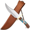 Ironwood Turquoise Inlay Handle Bowie Knife 40446