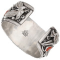 Authentic Navajo Tommy Moore Silver Turquoise Bracelet 40466