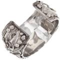 Authentic Native American Silver Onyx Bracelet Artist Gene Natan Signed 40468