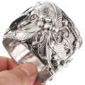 Black Onyx Navajo Sterling Silver Bracelet 40468