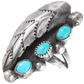 Vintage Navajo Turquoise Silver Ring 40478
