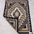 Authentic Navajo Wool Rug 1960s Vintage 40487