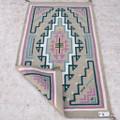 Vintage Navajo Hand Woven Natural Wool Rug 40488