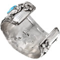 Authentic Navajo Bear Claw Cuff Turquoise Bracelet Artist Signed 40503