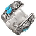 Authentic Navajo Mike Thomas Jr. Bear Claw Bracelet Turquoise Jewelry Signed 40504