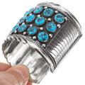 Sterling Silver Native American Natural Turquoise Bracelet 40514