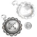 Sterling Silver Western Earrings Navajo Made Signed 40519