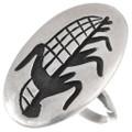 Vintage Hopi Sterling Silver Cornstalk Ring 40522