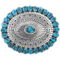 Native American Turquoise Sterling Belt Buckle 40538