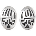 Vintage Hopi Silver Bear Paw Earrings 40541