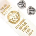 Vintage 1969 Silver Snake Hopi Earrings 40544