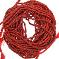 Bright Red Coral Nugget Beads 37159