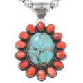 Turquoise Spiny Oyster Navajo Pendant 40586