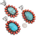 Natural Spiny Oyster Turquoise Center Stone Pendants 40586