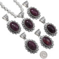 Purple Natural Spiny Oyster Navajo Pendants 40589