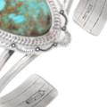 Navajo Artist Joe Piaso Jr. Royston Turquoise Bracelet Signed 40595