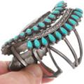 High Grade Turquoise Gemstones Zuni Inlay Design Blue Jay Bracelet 40599