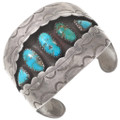 Old Pawn Natural Turquoise Shadowbox Cuff Bracelet 40602