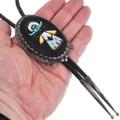Hand Crafted Gemstone Inlay Zuni Bolo Tie 40607