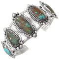 Matching Bisbee Turquoise Sterling Silver Cuff Bracelet 23321