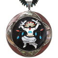 Old Pawn Apache Crown Dancer Pendant Necklace 40621
