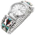 Vintage Zuni Inlay Turquoise Watch 40624