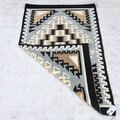Two Grey Hills Design Handwoven Navajo Wool Rug 40637