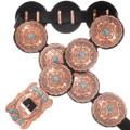 Turquoise Copper Concho Belt 30426