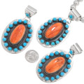 Turquoise Silver Spiny Oyster Shell Pendants 40648