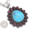 Purple Spiny Oyster Turquoise Native American Pendant 40652