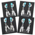 Native American Arizona Turquoise Dangle Earrings 40659