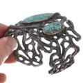 Old Pawn Native American Carico Lake Turquoise Bracelet 40664