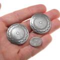 Native American Silver Concho Western Earrings 40673