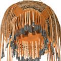 Leather Trim Jingle Cones Medium Size Apache Burden Basket 40685
