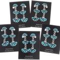Zuni Style Southwest Turquoise Silver Earrings 40691
