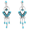 Sterling Silver Turquoise Earrings 40692