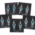 Silver Turquoise Western Chandelier Earrings 40692