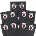 Sterling Silver Native American Bear Tracks Post Earrings 40706