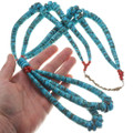 High Grade Turquoise Large Beaded Native American Necklace 40622