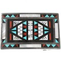Old Pawn Inlaid Zuni Belt Buckle 40716