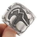 Silver Heartline Bear Symbol Old Pawn Native American Bracelet 40719