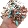 Authentic Zuni Hand Carved Turquoise Fetish Heishi Necklace 40723