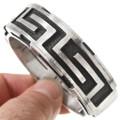 Heavy Gauge Sterling Silver Hopi Bracelet 40734