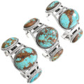 Native American Turquoise Sterling Silver Bracelets 40739