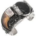 Vintage Navajo Onyx Bear Claw Bracelet 40753